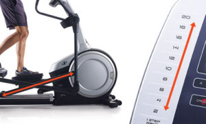 Elliptical With Incline - NordicTrack with up to 20 degrees
