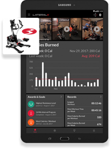 Bowflex LateralX Tablet With Tracking App