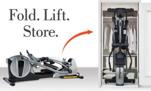Folding Elliptical For Easy Storage